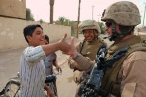 Thumb Wrestling the Colonel and Terp Al Fallujah