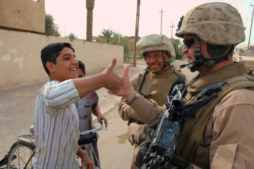 Thumb Wrestling the Colonel and Terp Al Fallujah