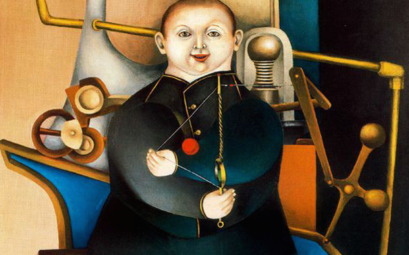 Richard_Lindner_-_Boy_with_Machine_1954
