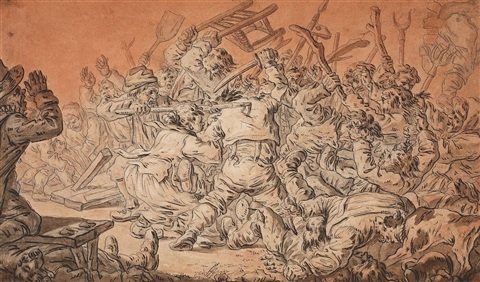 johann-eleazar-schenau-peasants-fighting